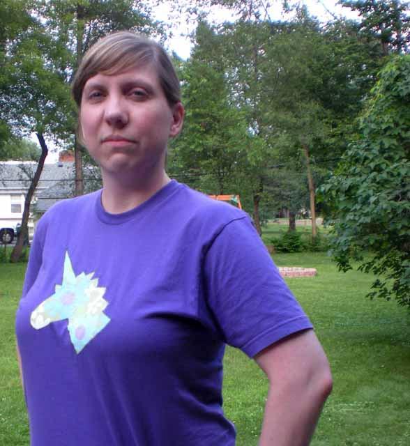 custom unicorn shirt in purple